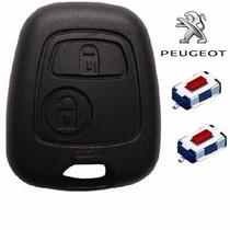 Kit Chave Capa Original Peugeot +2 Botões 206 207 Citroen C3