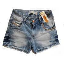 Shorts Cintura Alta Customizado Perolas E Strass Hot Pants