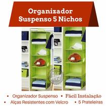 Organizador Suspenso 5 Nichos P Closet Armário Sapateira