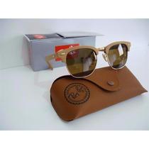 Oculos Rayban Clubmaster Wood Rb3016 Armação Madeira