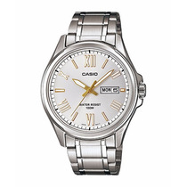 Relógio Casio Mtp-1377 D-7av Nr. Romano Calendário Wr-100m B