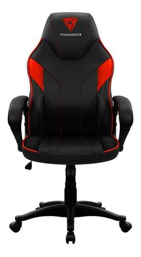 Cadeira De Escritório Thunderx3 Ec1 Jogador Ergonômica Preta E Vermelha