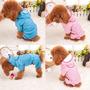 Capa De Chuva Para Cachorros Raças Pequenas