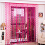 Cortina De Coração Pink De Tiras Decorativa Do Lar