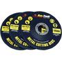 Rebarbadora Discos - 115mm 3 Peça De Metal De Corte 3pc
