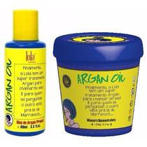 Óleo De Argan Pracaxi 60ml + Másc Argan Oil 230g Lola