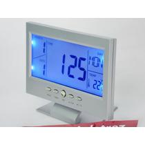 Relógio Digital Mesa Iluminação Noturna Atraves De Sensor