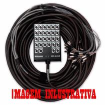 Multicabo Completo Com Medusa Hjh 28 Vias - Xlr - 15 Metros