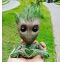 Baby Groot Vaso Ou Porta Objetos - 14 Cm Fazendo Coração