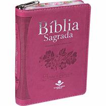 Bíblia Feminina Evangélica Pequena Ra Indice Ziper Floral