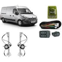 Kit Vidro Eletrico Renault Master 2013 Em Diante Inteligente