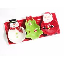 Petisqueira Cerâmica Natal (4 Peças)