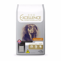 Ração Dog Excellence Cães Adultos Light Frango E Arroz 15kg