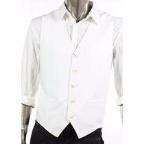 Colete Social Slim Masculino Branco Ou Preto +brinde Gravata