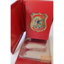 Carteira Porta Nota Justiça Federal C61v Nãoé Agente Polícia