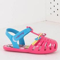 Sandália Infantil Grendene Hello Kitty - 17 Ao 25 - Rosa