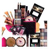 Kit Maquiagem Pincel Completo Bella Femme 23 Itens Promoção