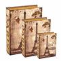 Livro Caixa 3 Peças Em Mdf Linda Estampa Torre Eiffel Paris