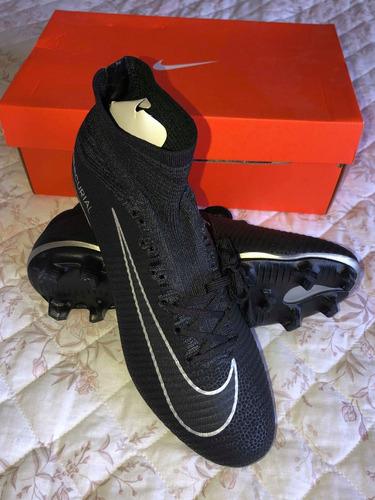 74a4aa4db5 Promoção  Chuteira Nike Campo Mercurial Cano Longo Preta à venda em Porto  Alegre Rio Grande do Sul por apenas R  300