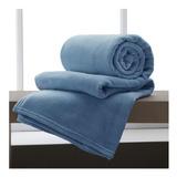 Cobertor Corttex Home Design Casal Azul-índigo Lisa