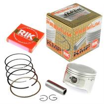 Pistão Kit C/ Anéis Moto Honda Cg150 Titan Kmp Rik 1,00 Mm