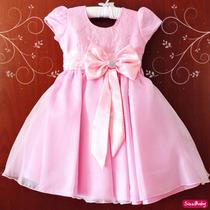 Vestido Infantil Festa Princesa Casamento Florista Com Tiara