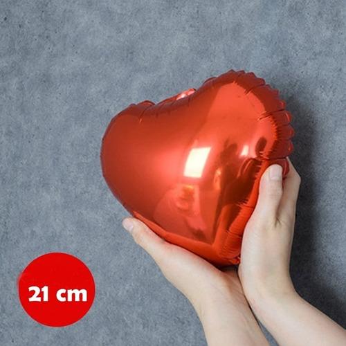 34d96e2fb 50 Balão Coração Vermelho 21cm Decoração Centro Mesa Festa à venda ...