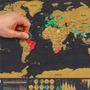 Mapa Mundi De Raspar Viagens Raspadinha Scratch Map
