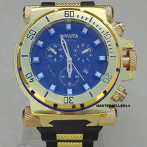 Relógio Masculino Gigante Mod. Invicta Parece Ouro 18k Lindo