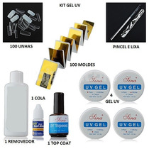 Kit Completo Gel Uv Profissional Pronta Entrega