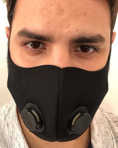 Máscara Respirador Tecido Emborrachado Lavável C/ 2 Válvula