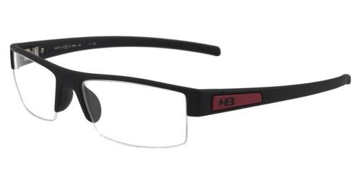 Armação Oculos Grau Hb Polytech 9310170233 Preto Fosco Verme 502f9b5283