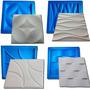4 Formas Gesso 3d De Plástico C/ Borracha Eva Digitalartrio