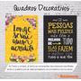 Quadro Divertido Frases Motivacionais Engraçada Tela 40x30