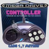 Controle Mega Drive Master System 6 Botões (cabo Longo) !