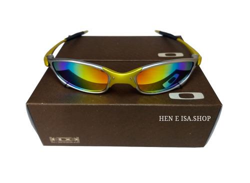 04bed28d4 Oculos Oakley Juliet 24k Arco-iris +chaves+teste 12x S/juros à venda ...