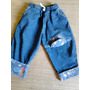 Calça Jeans Infantil De Balões Coloridos Usada