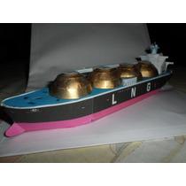 Miniatura Em Papel De Navio Cargueiro Tanque