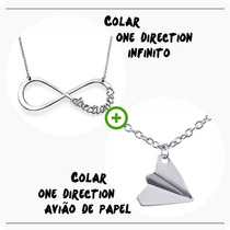 Kit Colar One Direction Infinito + Colar Aviao De Papel 1d