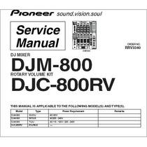 Manual Serviço Todos Mixer E Cdj E Ddj Pioneer E Technics,m