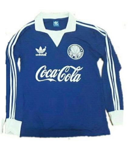 ... Liga Retrô Sports Novo. Distrito Federal. R  120. 5 vendidos. Camisa  Palmeiras Gk Azul Coca-cola 1dc1ab23d5a92