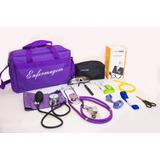 Kit Para Enfermagem Diversas Cores Com Aparelho De Pressão