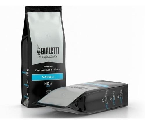 Café Torrado E Moído Para Moka Napoli Bialetti 500g