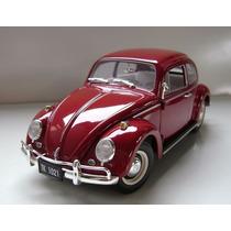 Mini Volkswagen Vw Fusca 1963 Johnny Lightning 1:18 Raridade