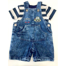 Jardineira Jeans Masculino Infantil Pronto Entrega - 8898