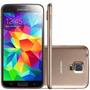 Galaxy S5 16gb Dourado Seminovo+película Gratis Leia Anúncio