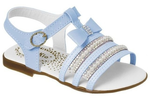 17bad4fdc Sandalia Feminina Infantil Azul Laço 12522536