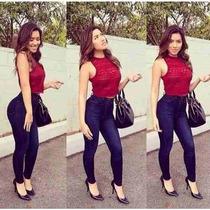 Calça Jeans Feminina,cintura Alta,com Elastano,promoção,
