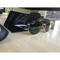 Oculos Ray Ban Club Round Polarizado Lançamento Único No Ml