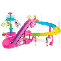 Boneca Polly Pocket Parque Diversões Montanha Russa - Mattel